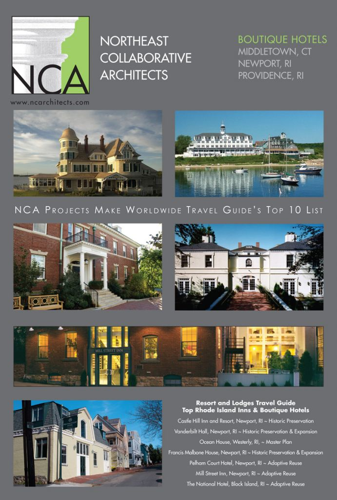 Nca s boutique hotels projects ranked among ri s top ten for Top boutique hotels 2016