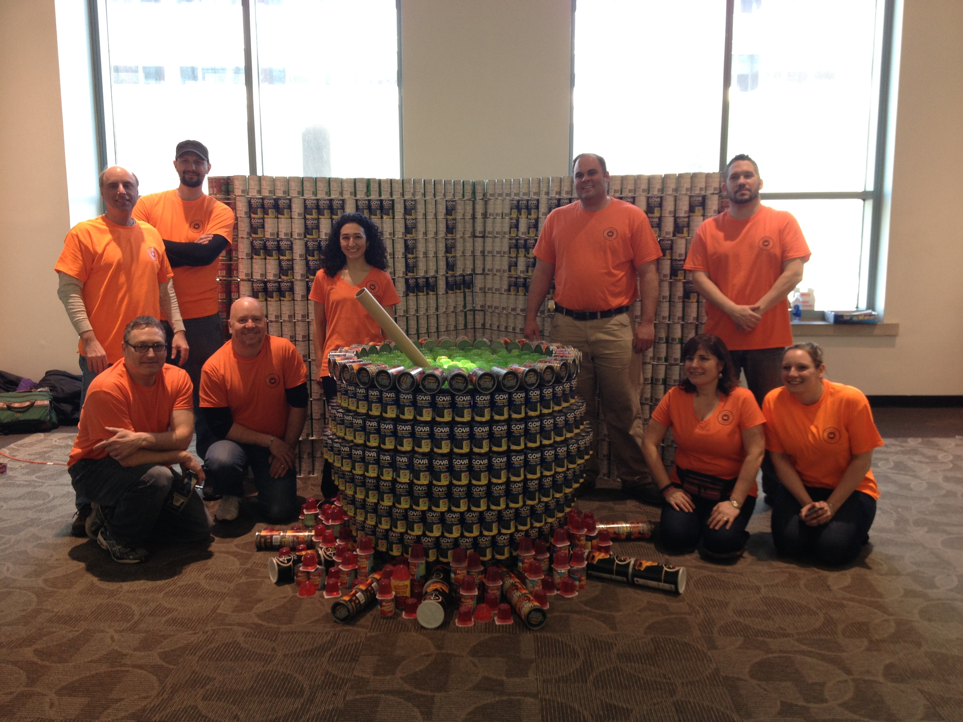 Northeast Collaborative Architects' Canstruction Team Wins 2014 Juror's Favorite Award