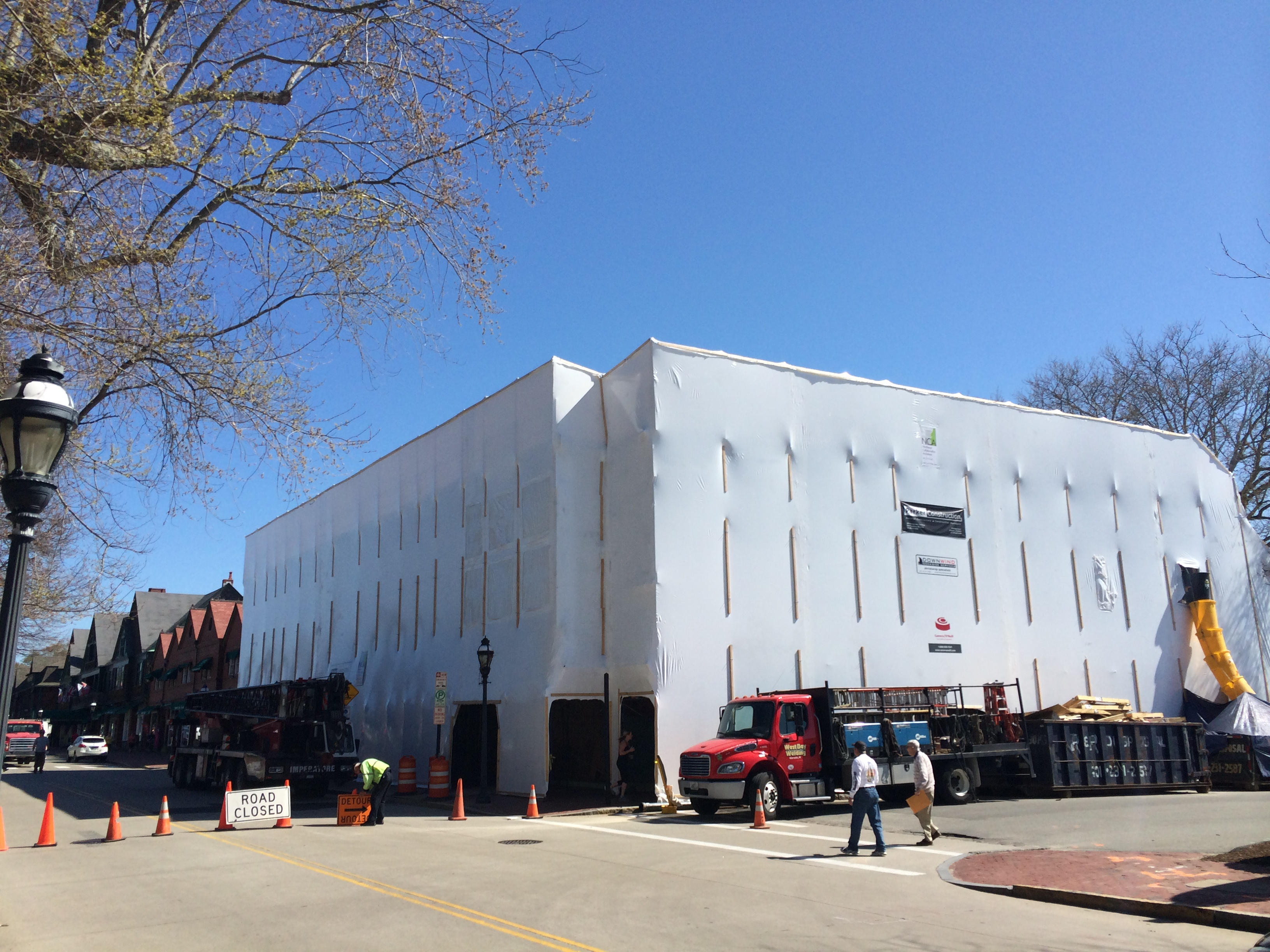 Audrain Building Under Wraps During Construction
